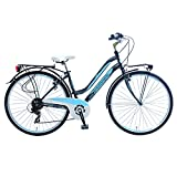 Lombardo Siena 100L Commuting Bike, 700c Wheels, 17 inch Frame, Women's Bike, Antracite/Blue, 99% Assembled