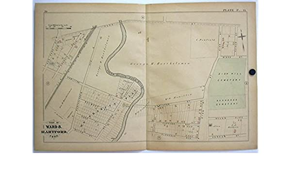 Hartford CT Map 1880 Ward 8 Barholomew, Francis Plat Zion Hill ...