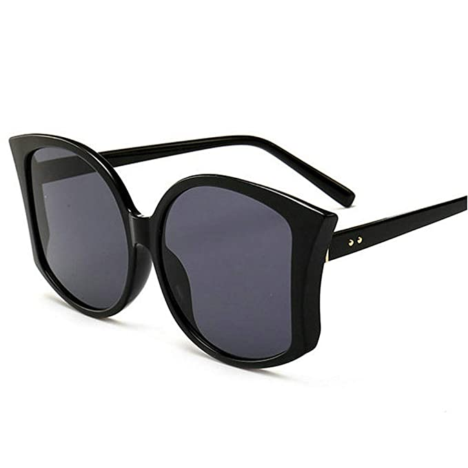 3dd36b0347ee Square Sunglasses Women Retro Brand Designer Oversized Sun Glasses Women  Lady fashion sunglasses (black)  Amazon.co.uk  Clothing