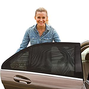 XPLUS Car Side Window, Universal Fit Car Side Window Baby Sun Shade Protect Your Baby and Older Kids from the Sun, Fits 99% Cars (2 Pack)