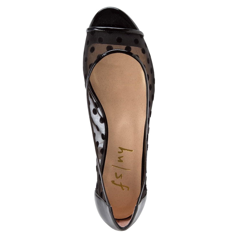 French Sole FS/NY Women's Noir Ballet Flat, Black, Size 5.5