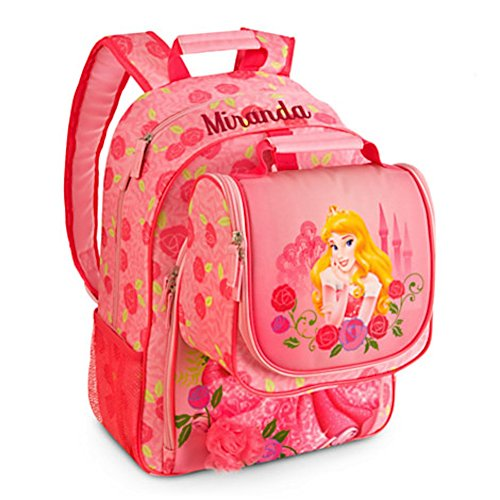 Disney Deluxe Aurora Sleeping Beauty Backpack and Lunch Tote Set School (Backpack Beauty Sleeping)