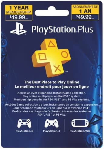Playstation Plus 12 Month Subscription Card Blue Playstation 4 Computer And Video Games Amazon Ca