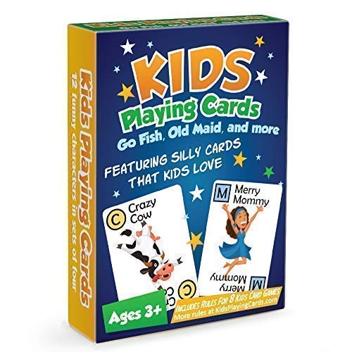 Go Fish, Old Maid, War, Memory, and Many More with Our Unique Kids Playing Cards]()