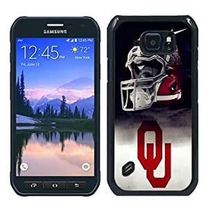 S6 Active Case,Oklahoma Sooners 01 Black Abstract Customized Samsung Galaxy S6 Active Case