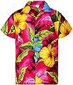 King Kameha Hawaiian Shirt for Men Funky Casual Button Down Very Loud Shortsleeve Unisex Big Flower