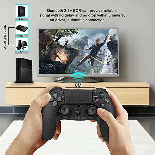 PS4 Controller,TechKen Wireless PS4 Gamepad für Sony Dualshock Controller PS4 Joystick Pro Grip Bluetooth Playstation 4 Vier Controller PS4 Zubehör Games Spiele für PlayStation 4 3 & PC Games 6
