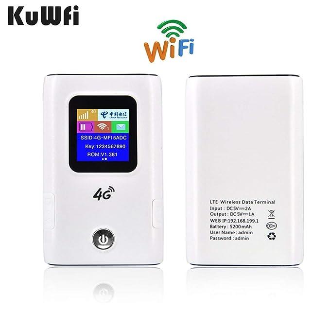 KuWFi desbloqueó el enrutador inalámbrico 4G LTE, el enrutador 4G ...
