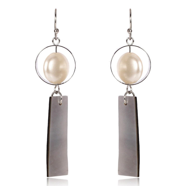 049dcf74b068 Dana Carrie Acrílico y Elegantes aretes de plata personalizada Caliente de  la venta