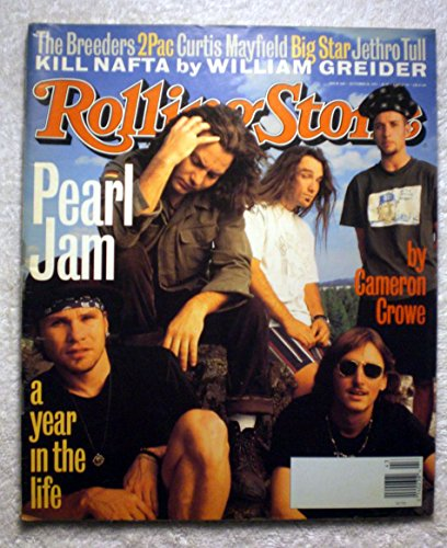 Jam Pearl Rolling Stone - Eddie Vedder, Stone Gossard & Mike McCready - Pearl Jam - Rolling Stone Magazine - #668 - October 28, 1993 - Blank Address Box! - RS5