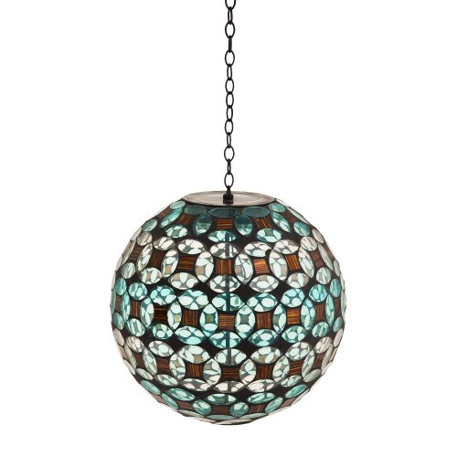 Evergreen Flag & Garden Geometric Sphere Solar Hanging Gazin