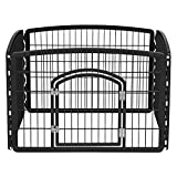 Image of IRIS 24'' Exercise 4 Panel Pet Playpen with Door, Black