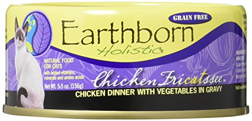 Earthborn Holistic Chicken Fricatssee Grain Free Canned Cat Food, 5.5 oz, Case of 24 ()