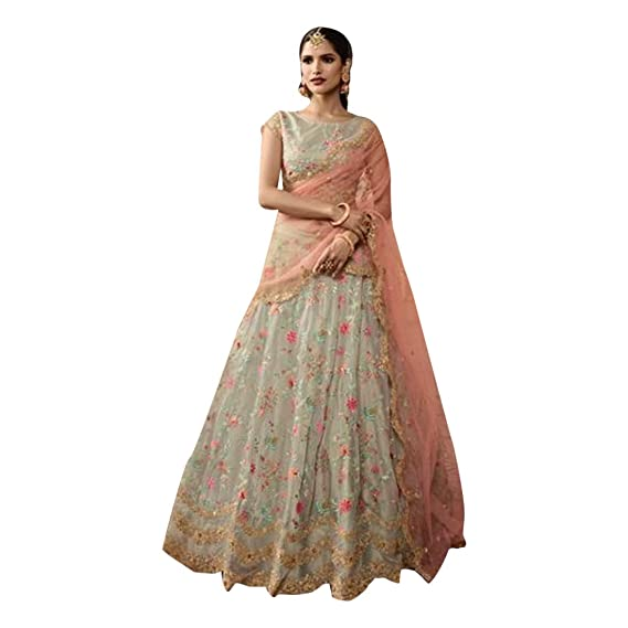 8712 Red Bridal Crystal Work Lehenga Choli Chaniya Dupatta Skirt ...