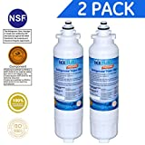 Icepure RWF3500A Water Filter Compatible with LG LT800P ,ADQ73613401,ADQ73613403, ADQ73613402 ,Kenmore 9490,2PACK