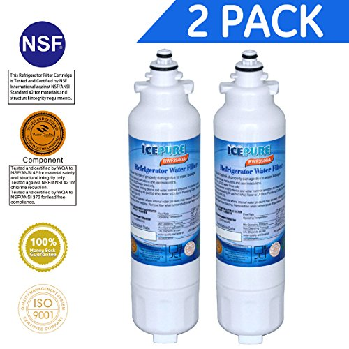 Icepure RWF3500A Water Filter Compatible with LG LT800P ,ADQ73613401,ADQ73613403, ADQ73613402 ,Kenmore 9490,2PACK by ICEPURE