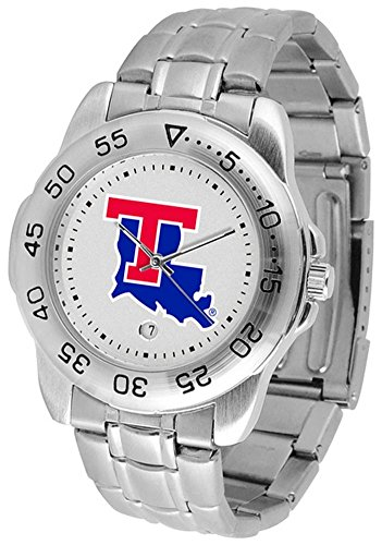 Bulldogs Louisiana Watch Sport Tech (Louisiana Tech Bulldogs Sport Steel Men's Watch)