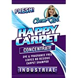 HAPPY CARPET - Concentrated Carpet Shampoo | Super Carpet Cleaning Solution | Low Foam, Non-Toxic | Dye, Residue & Odor Free | Hot Water Extraction Machine, Bissell & Hoover Safe | Child & Pet Safe