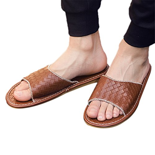 Femme Men TELLW pour Brown Chaussons x7wRqfw