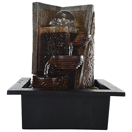 Kiara Polyston indoor/Outdoor 3 Tier natural looking LED light Water Fountain