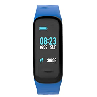 CHIGU C1plus Pulsera Inteligente Control de Ritmo Cardíaco Contador de Pasos Pantalla de Color Impermeable Pulsera Deportiva: Amazon.es: Relojes