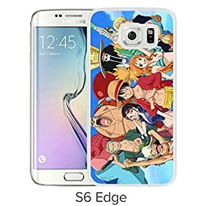 Fashionable and Durable Samsung Galaxy S6 Edge Case Design with One Piece 32 White Cover