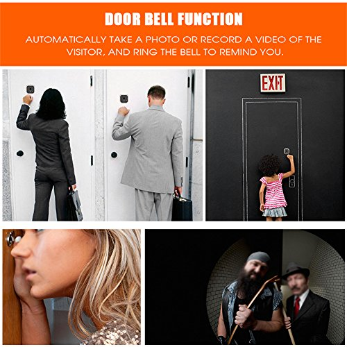 Sonew 720P HD Resolution Camera Visual Video Digital Doorbell HOM Peephole Viewer IR Night Vision with 160 Degrees Wide Angle for House/Office/Apartment/Hotel by Sonew (Image #2)