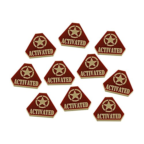 LITKO WWII American, Activated Tokens, Brown (10)