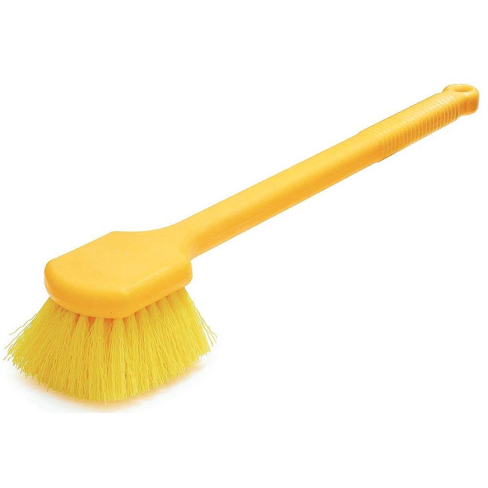 Rubbermaid Commercial Palmyra Fill Long Plastic Handle Utility Scrub Brush