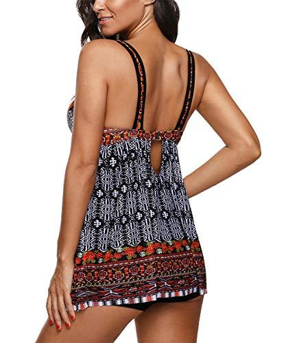 Zando Women's Slimming Tummy Control Swimdress Swimwear