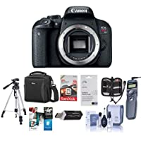Canon EOS Rebel T7i DSLR Camera Body - Bundle With Camera Case, 64GB SDXC Card, Tripod, Remote Shutter Trigger, Screen Protector, Cleaning Kit, Card reader, Memory Wallet, Software Package