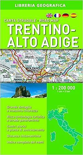 Cartina Stradale Del Trentino Alto Adige.Amazon It Carta Stradale Trentino Alto Adige 1 200 000 Aa Vv Libri