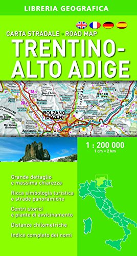 Carta Stradale Trentino-Alto Adige 1: 200 000 Aa.Vv.