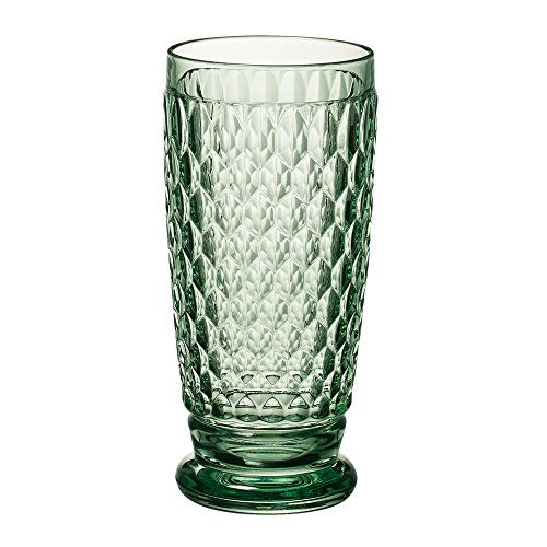 (Villeroy & Boch Boston Green Crystal Highball Glasses, Set of 4 )