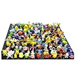 1 Complete Set Pokemon Pikachu Monster Mini Action Figures Multicolor (Lot of 144 Piece), 2-3CM