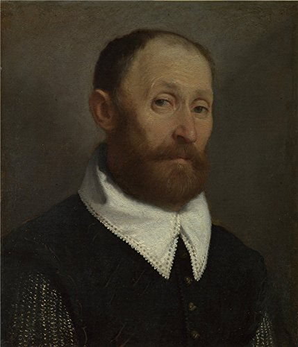The Polyster Canvas Of Oil Painting Giovanni Battista Moroni Portrait Of A Man With Raised Eyebrows   Size  24 X 28 Inch   61 X 71 Cm  This High Definition Art Decorative Canvas Prints Is Fit For Kitchen Gallery Art And Home Artwork And Gifts