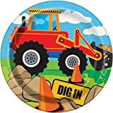 Construction Party Supplies - Construction Truck Birthday Paper Dessert Plates, 8ct