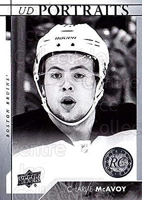 6d373decf94 (CI) Charlie McAvoy Hockey Card 2017-18 Upper Deck UD Portraits 59 Charlie  McAvoy
