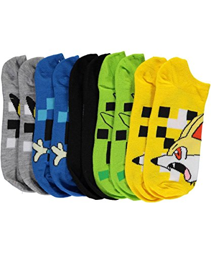 Pokemon-Pixelated-5-pk-No-Show-Socks