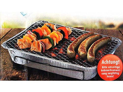 2 x Picknick-Grill von Free Limit, inklusive Holzkohle, kein Anzünder erforderlich (Streichholz/Feuerzeug genügt), hochwertiger Einweggrill, zum Grillen unterwegs, Pocket Grill, Camping Grill - bereits nach 20 Minuten einsetzbar