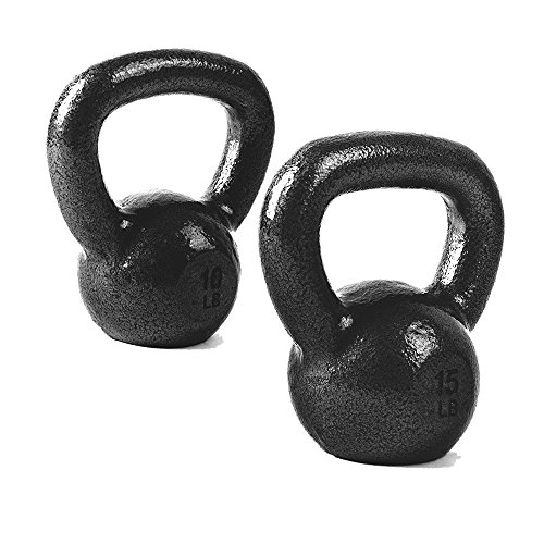 Cap Barbell Cast Iron Kettlebell Sets, Black