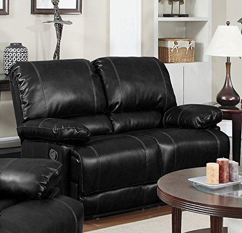 Myco Furniture Derick Motion Loveseat, Black