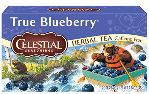 Celestial Seasonings Herbal Tea, True Blueberry, 20 Count Box (Pack of -