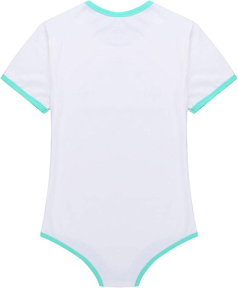 YiZYiF Maillots de Corps Homme Body T-Shirt /à Manche Courte Lingerie Couches Amateur ABDL String Combinaison Bodysuit Pyjama Collant Jumpsuit V/êtement de Nuit M-XXL
