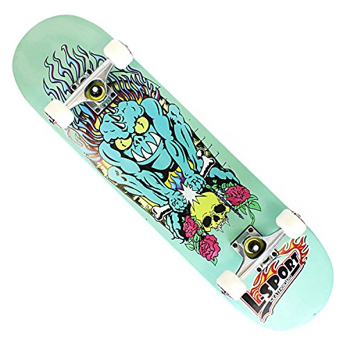 OneHype - Pro Complete Skateboard Bone Crusher Green 31