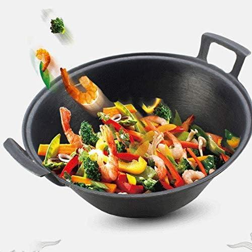 ZLDGYG Fonte Pots, woks, soupe Pots, Uncoated Cocottes, casseroles, Batterie de cuisine, Poêle à gaz (Size : 36cm)