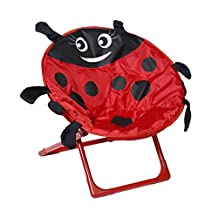 Kids Chair Toddler Saucer Chair ,OUTAD Children Chair Saucer Chair Foldable Portable Children Kids Beetle Chair House Indoor & Outdoor for Boys and Girls,Red