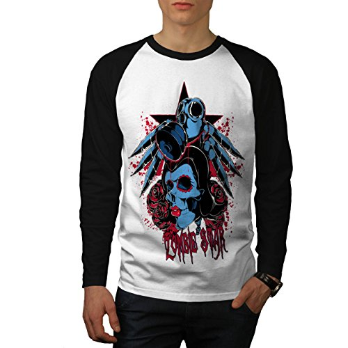 Evil Zombie Star Rise Nightmare Men NEW M Baseball LS T-shirt | Wellcoda (Love Bite Vampire Costume)