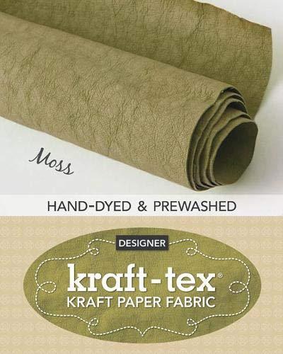 kraft-tex Roll Moss Hand-Dyed & Prewashed: Kraft Paper Fabric, 18.5