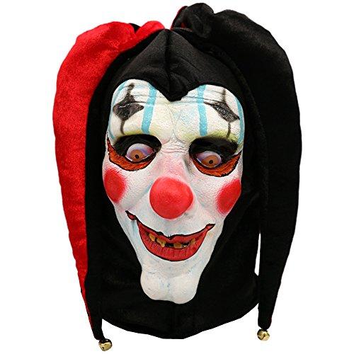 Dhakar Scary Clown Mask Joker Cosplay Horror Mask Costume Latex Mask (pink) -